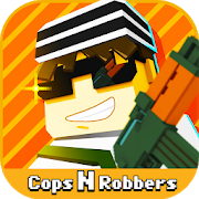 Cops N Robbers - 3D Pixel Craft Gun Shooting Games‏