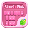 Simple Pink GO Keyboard Theme