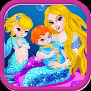ولادة طفل ألعاب حورية البحر