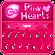 GO Keyboard Pink Hearts Theme