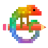 Pixel Art - Color by Number Book