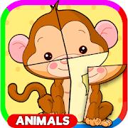 أطفال لغز للحيوان للأطفال