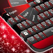 أسود أحمر لوحة المفاتيح