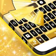 نيون الذهب لوحة المفاتيح GO