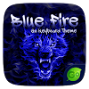 Blue Fire GO Keyboard Theme