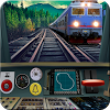 Train driving simulator