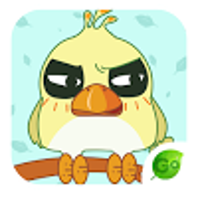 GO Keyboard Sticker Silly Bird