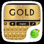 Gold Luxury Go Keyboard Theme