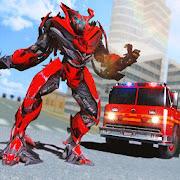 Truck Robot Fire Fighter Real War Simulator  Mod Apk 1.0